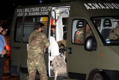 Ambulanza dell'ospedale militare del Celio di Roma