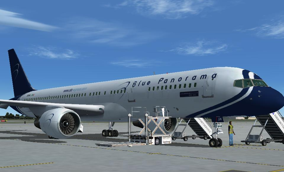 aereo Blue Panorama