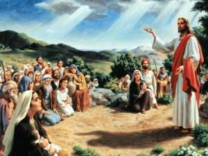 Gesù che parla alla gente