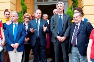 Il presidente Zinzi tra Sibilia, Talento e Del Gaudio