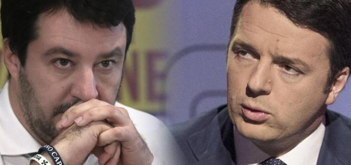 Matteo Salvini e Matteo Renzi (combo)