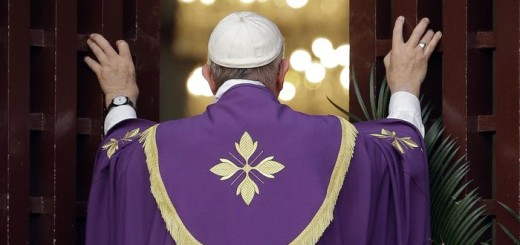 Pope Francis opens the holy door of the Bangui cathedral, Central African Republic, Sunday, Nov. 29, 2015. Pope Francis is in Africa for a six-day visit that is taking him to Kenya, Uganda and the Central African Republic. (ANSA/AP Photo/Andrew Medichini)