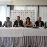 1- Un momento della conferenza stampa di presentazione di Title Sponsor Ce.Di Sigma Campania e della nuova maglia della Sigma Aversa