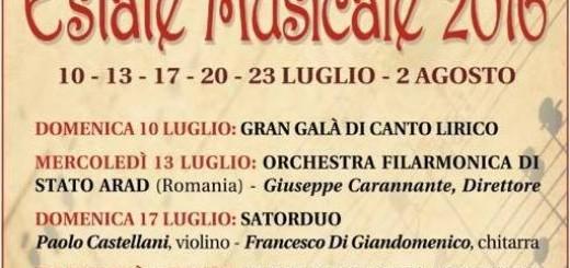 AMICI DELLA MUSICA ESTATE MUSICALE 2016