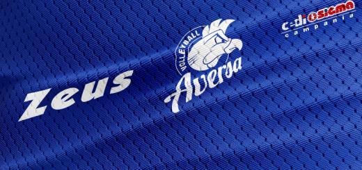 Logo Zeus su un dettaglio della maglia 2016-2017 della Sigma Aversa