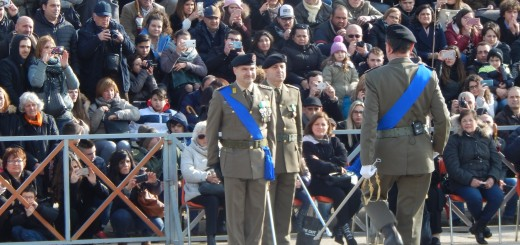 CAPUA Il col Cucinieri pronto ad assumere il comando per la olenne cerimonia di Giuramento 030217