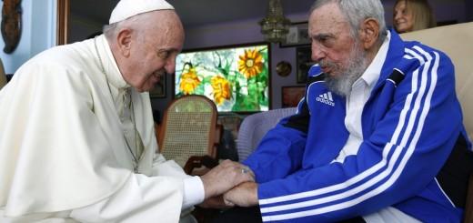 Papa Francesco con Fidel Castro
