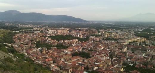 Maddaloni vista dal Monte San Michele