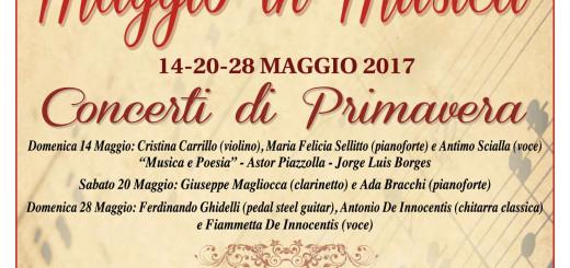 Maggio in Musica 2017 Manifesto Amici della Musica