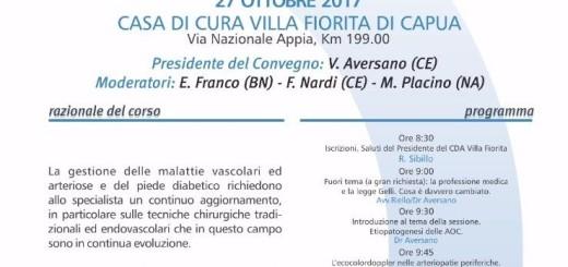 LOCANDINA CORSO AGGIORNAMENTO SU PIEDE DIABETICO VILLA FIORITA 27.10.2017
