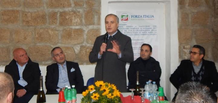 SMLF Il presidente prov di Forza Italia, on. Sarro, durante il suo intervento politico