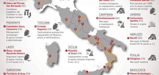 ANAS mappa ritrovamenti archeologici