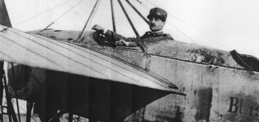 Salomone a bordo di un Bleriot XI