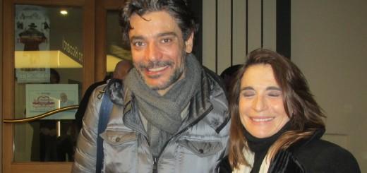 CAPUA Lina Sastri felice, con Giuseppe Zeno all'ingresso del Ricciardi il 4 febbraio 2016