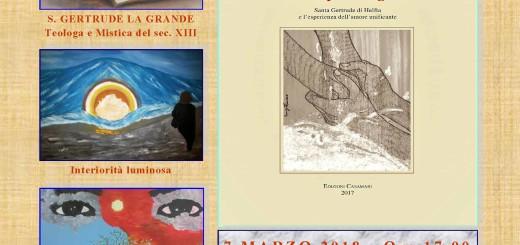 Locandina presentazione volume S. Gertrude