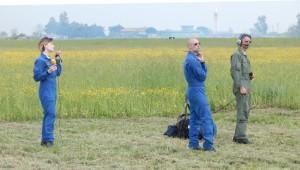 GRAZZANISE Speaker e tecnici seguono l'addestramento della Pan - 170418