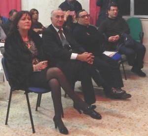 GRAZZANISE-IC In prima fila da sx la ds Di Iorio, il sindaco Gravante, i parroci Buompane e Corcione