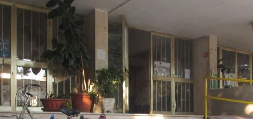 GRAZZANISE L'ingresso di Via Battisti dell'Istituto Comprensivo