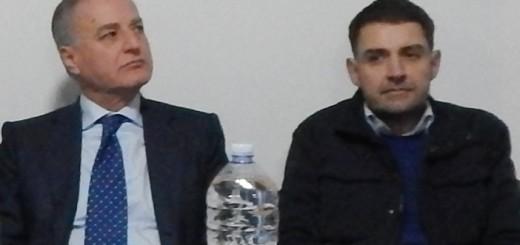 GRAZZANISE L'on Sarro e il presidente Magliocca ad un precedente incontro grazzanisano