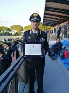 ROMA Il comandante Luigi De Santis col suo ambìto Premio 050618