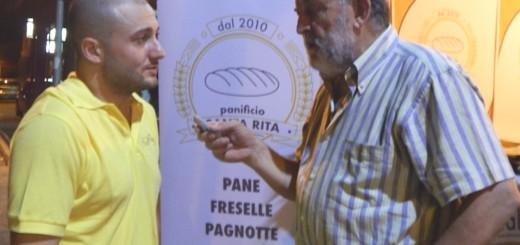 GRAZZANISE Biagio Mezzero, titolare del panificio Santa Rita, nel corso dell'intervista 110818