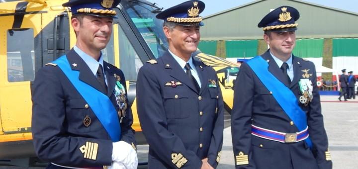 GRAZZANISE Il Generale Miniscalco fra i Comandanti Di Palma e Lucivèro