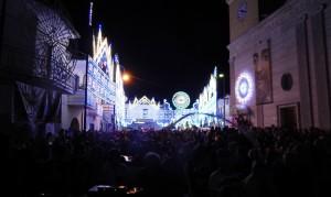 GRAZZANISE La folla che gremiva Piazza San Giovanni durante la 'sacra rappresentazione' - 290818