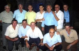 GRAZZANISE Ludovico, secondo in alto da destra, nel gruppo di 12 compagni di scuola