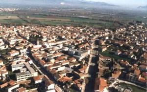 GRAZZANISE Veduta aerea del centro urbano