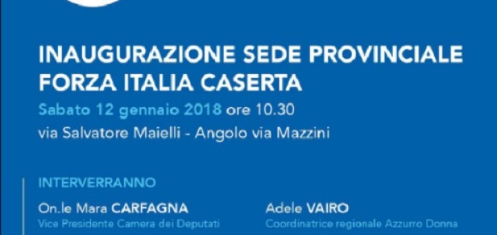 Invito inaugurazione sede Forza Italia Caserta