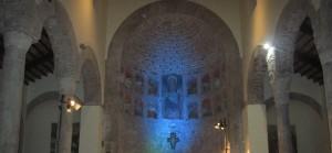 L'abside della chiesa medievale dei santi Rufo e Carponio in Capua