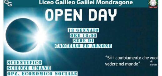OPEN DAY LICEO CANCELLO ED ARNONE