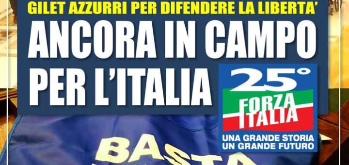 locandina gazebo forza italia caserta
