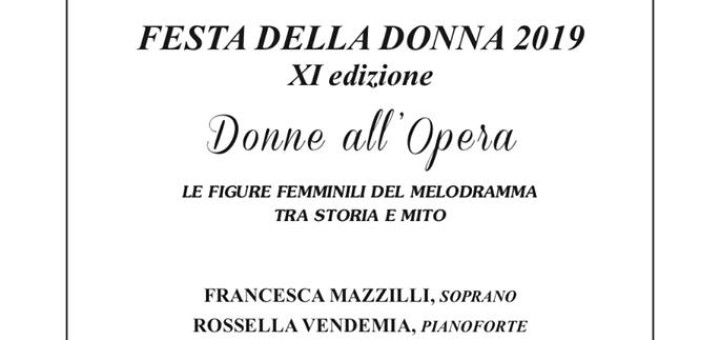 Donne all'Opera 17 marzo 2019