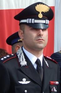Il capitano Emanuele Macrì comandante la Compagnìa CC di S.Maria C.V.