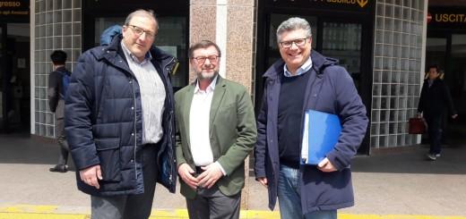 Roberto Marino con Luigi Esposito e Vincenzo Peretti