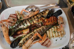 piatto di pesce specialità di Zara