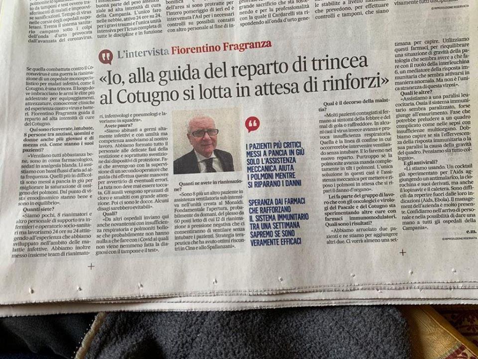 INTERVISTA AL DR.FIORENTINO FRAGANZA
